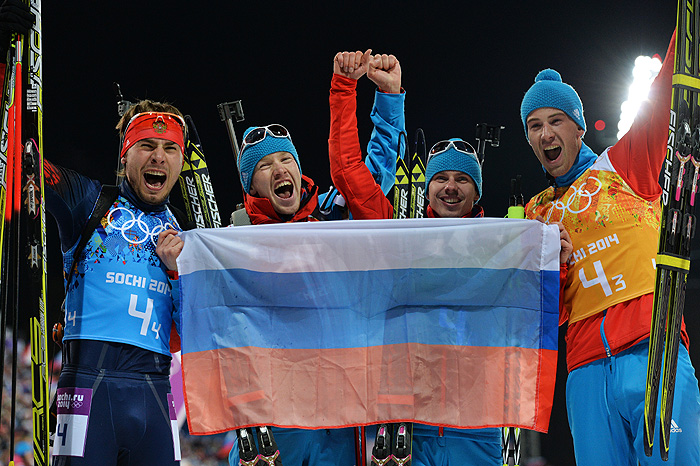 Россия вышла на первое место в общем зачете Олимпиады