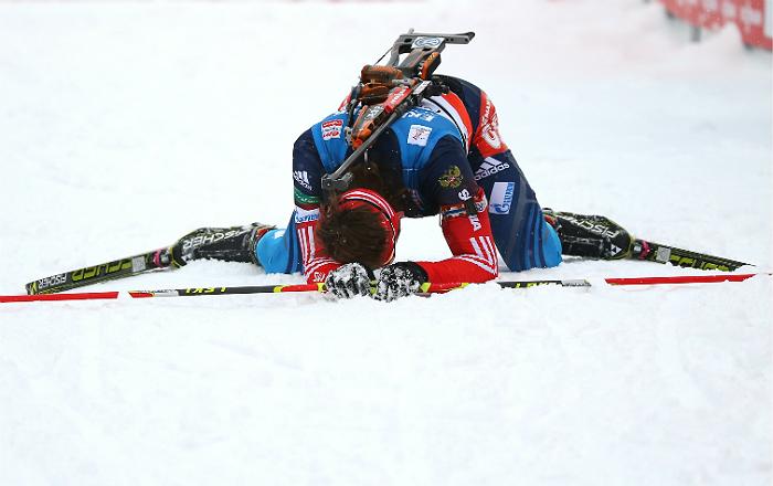 Шипулин выиграл масс-старт на словенском этапе Кубка мира