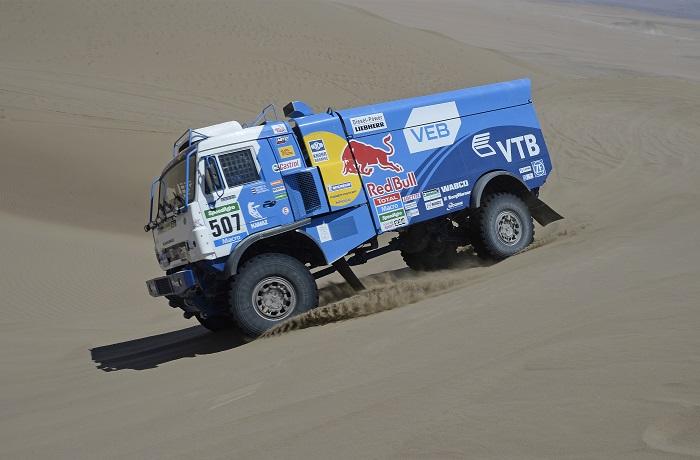 "Экипажи ""КАМАЗ-Мастер"" заняли весь пьедестал ралли ""Дакар-2015"" в классе грузовиков"