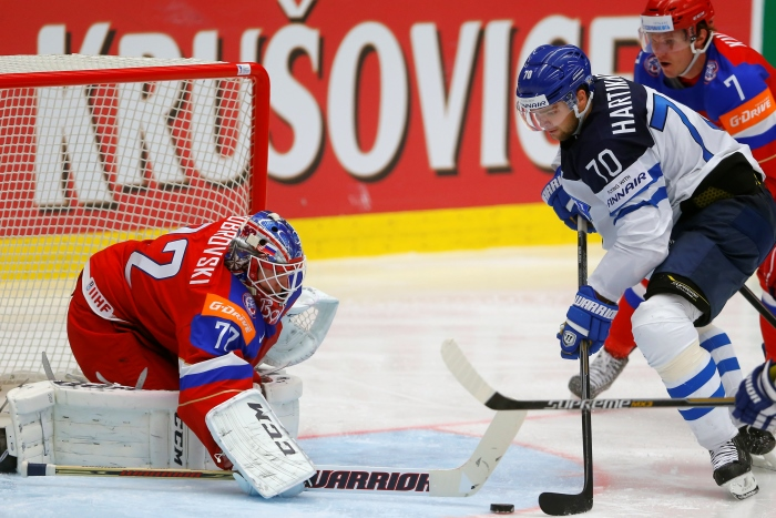 Сборная России уступила Финляндии по буллитам в матче ЧМ по хоккею