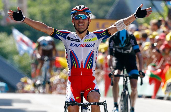 """Велогонщик """"Катюши"""" Родригес выиграл третий этап """"Тур де Франс"""""""