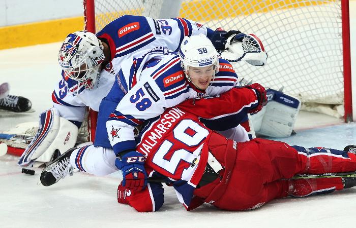 СКА победил ЦСКА в матче КХЛ