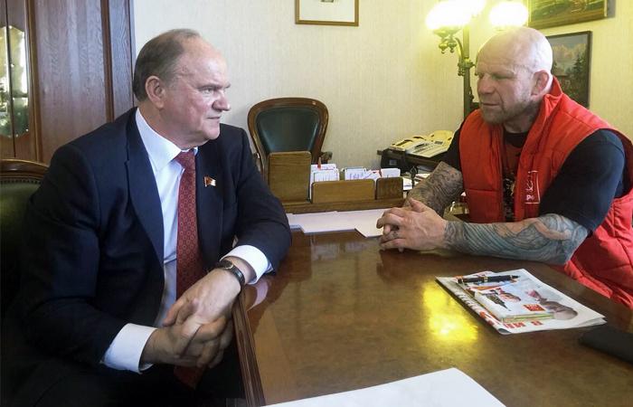 Зюганов пригласил бойца Джеффа Монсона к сотрудничеству с КПРФ