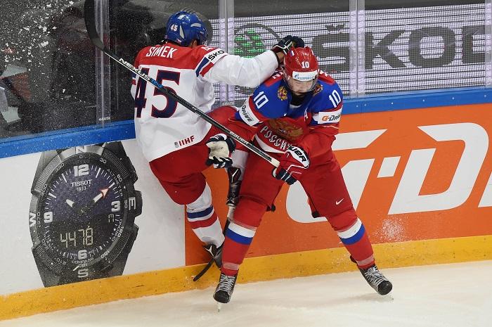 Сборная России проиграла Чехии в матче ЧМ по хоккею