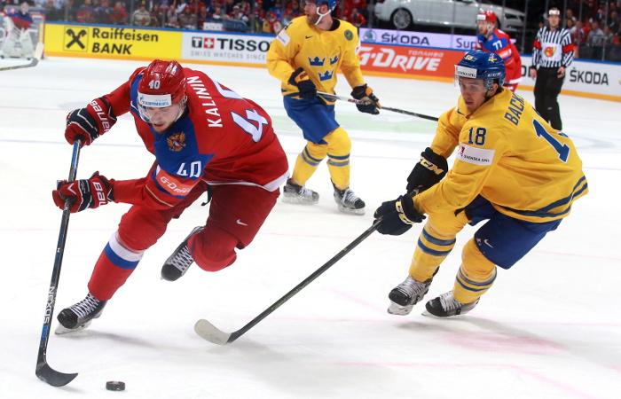 Сборная России победила команду Швеции на групповом этапе ЧМ по хоккею