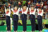 Женская сборная РФ по спортивной гимнастике завоевала серебро ОИ