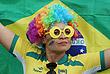 Бразильская фанатка на женском регби Бразилия - Колумбия