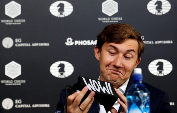 Карякин победил Карлсена в восьмой партии чемпионского матча