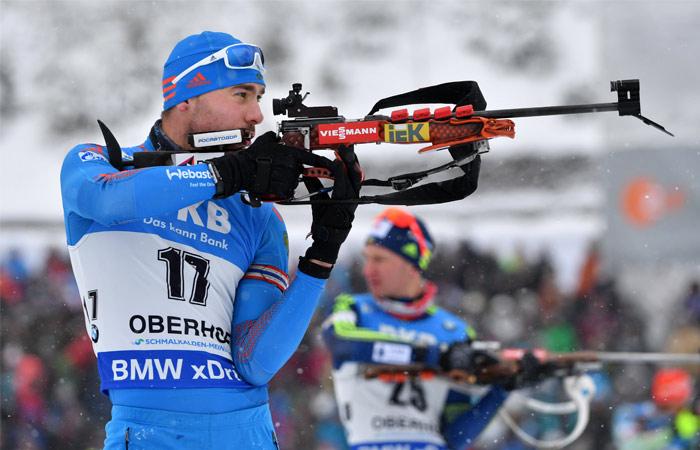 Россия стала второй в мужской эстафете на этапе КМ по биатлону