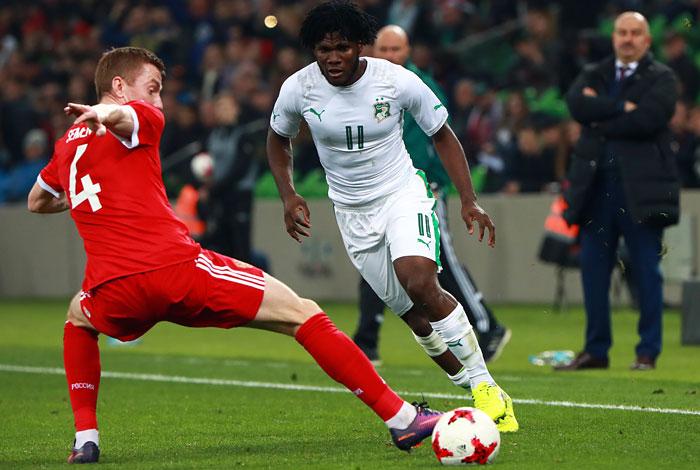 Сборная России по футболу уступила Кот-д'Ивуару в контрольном матче