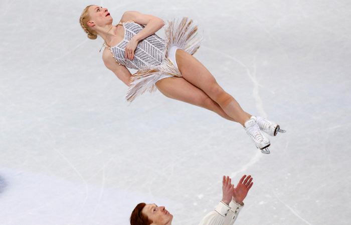 Фигуристы Тарасова и Морозов стали третьими в короткой программе пар на ЧМ