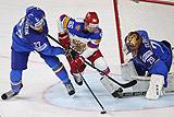 Сборная России забросила Италии 10 шайб в матче ЧМ по хоккею