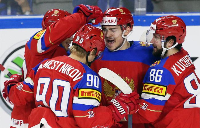 Россия победила Данию на ЧМ по хоккею