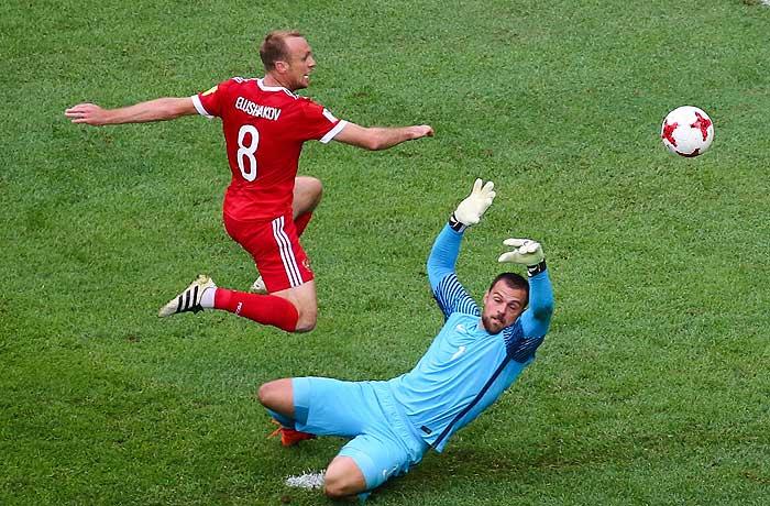 Сборная России выиграла стартовый матч Кубка конфедераций