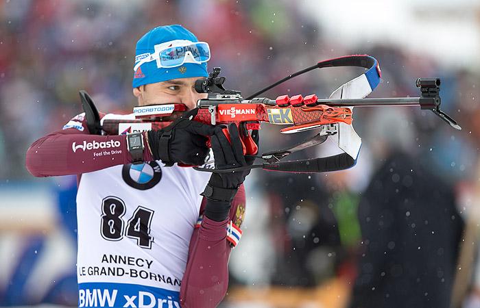 Шипулин завоевал бронзу в гонке преследования на этапе КМ по биатлону в Анси