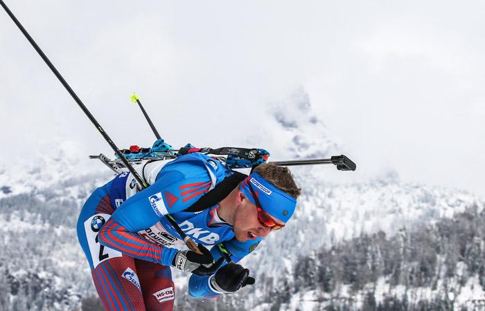 Сборная России завоевала бронзу в мужской эстафете на  этапе КМ по биатлону
