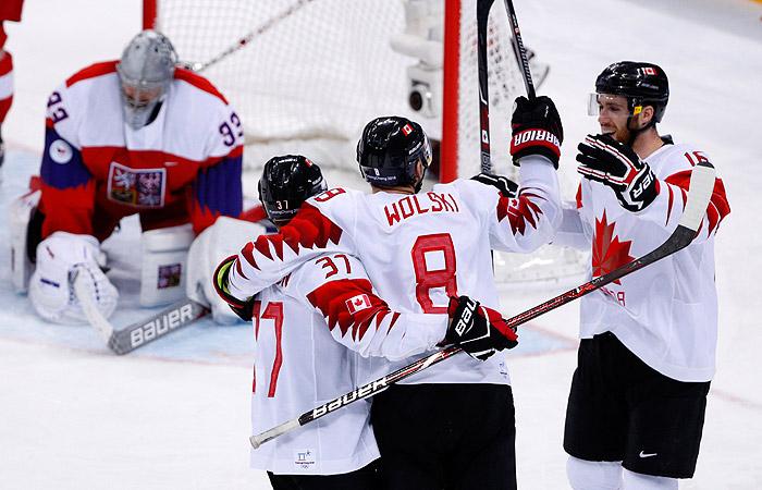 Хоккеисты сборной Канады победили Чехию в матче за бронзу ОИ
