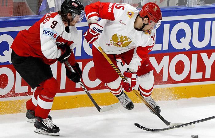 Хоккеисты сборной России крупно победили Австрию на ЧМ