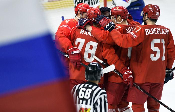 Россия победила Словакию в матче ЧМ по хоккею