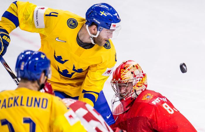 Хоккеисты сборной России проиграли Швеции в матче ЧМ