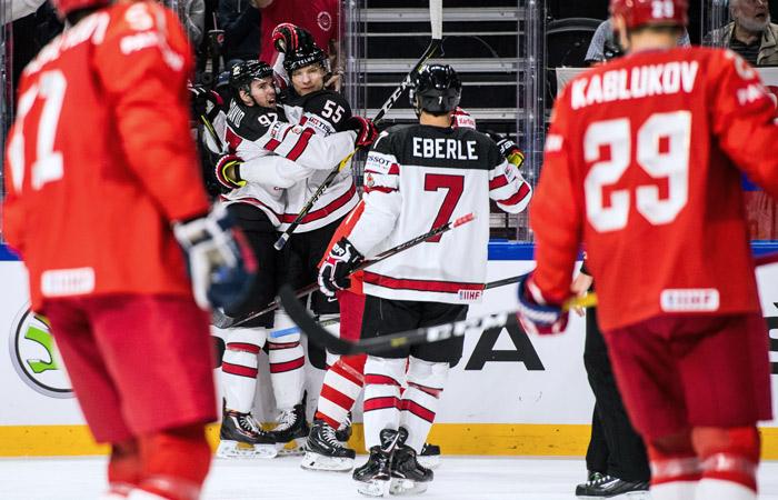 Россия проиграла Канаде в четвертьфинале ЧМ по хоккею
