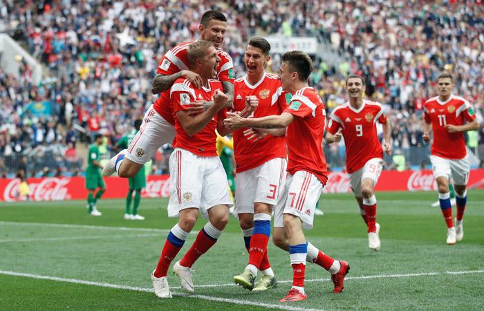 Сборная России забила первый гол ЧМ-2018