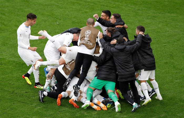 Сборная Уругвая выиграла у Египта в матче ЧМ-2018