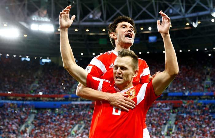 Сборная России победила Египет в матче ЧМ-2018