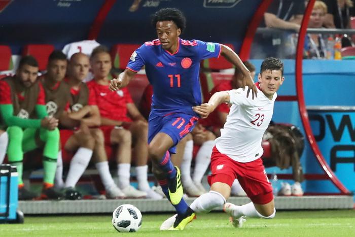 Сборная Колумбии разгромила Польшу в матче ЧМ-2018