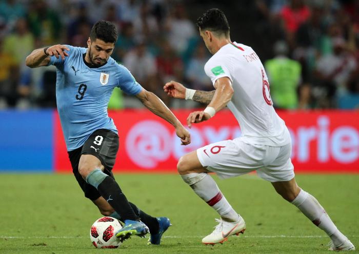 Сборная Уругвая победила Португалию в 1/8 финала