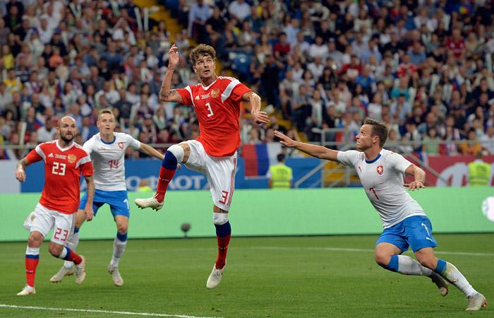 Сборная России провела пять голов в ворота команды Чехии