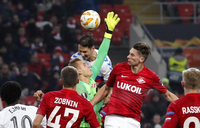 'Спартак победил'Рейнджерс в Лиге Европы УЕФА