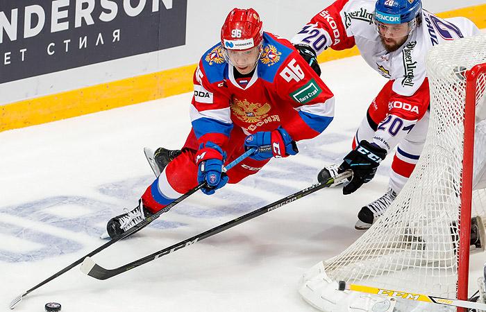 Сборная  России забросила семь шайб Чехии в матче Кубка Первого канала