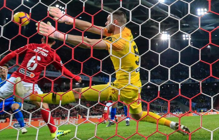 Матч чемпионата Российской Федерации  между «Спартаком» и«Зенитом» закончился  ничьей
