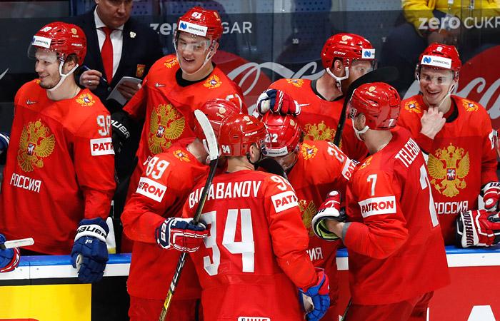 Россия победила Чехию в матче ЧМ