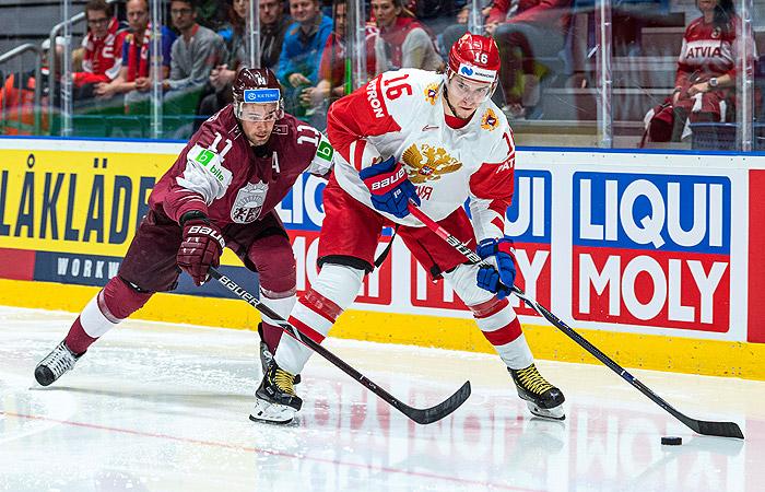 Россия победила  Латвию и досрочно вышла в плей-офф ЧМ