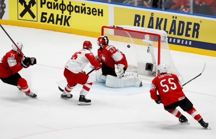 Хоккеисты сборной России победили Швейцарию в матче ЧМ
