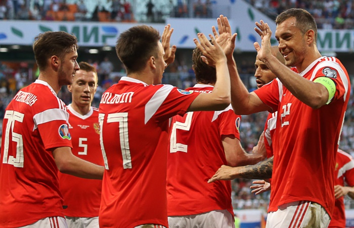 Россия забила девять мячей в ворота Сан-Марино