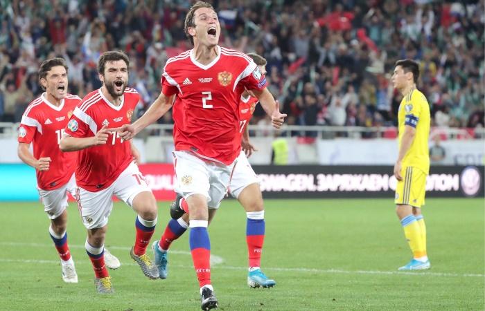Россия победила Казахстан в отборе на Евро-2020