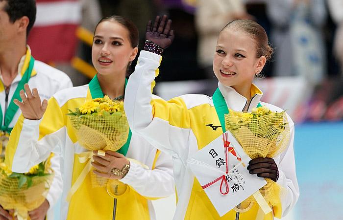 Фигуристки Загитова и Трусова выиграли Japan Open в составе сборной Европы