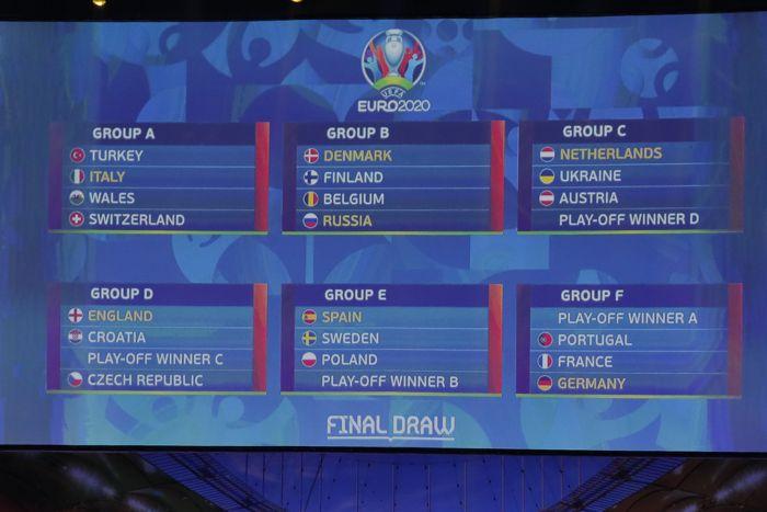 Определились все соперники сборной России по Евро-2020