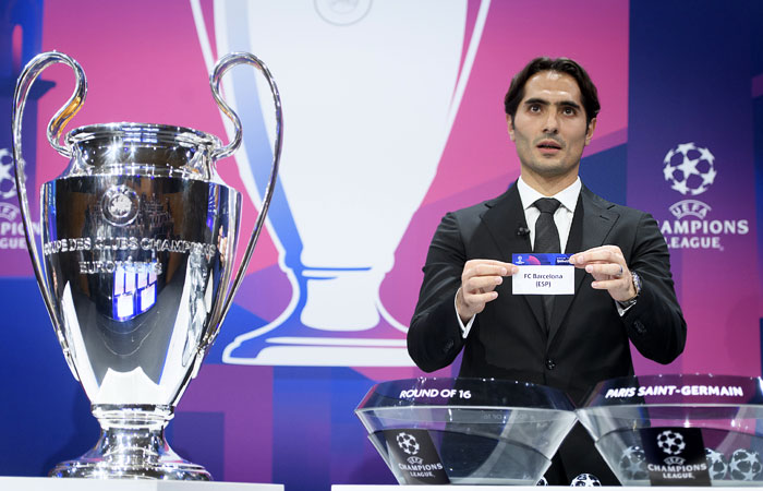 Определились пары 1/8 финала Лиги чемпионов УЕФА