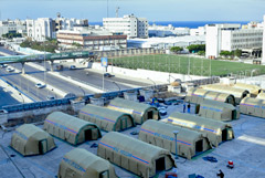 МЧС России развернуло аэромобильный госпиталь в Бейруте