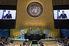 Макрон на Генассамблее ООН призвал Россию пролить свет на случившееся с Навальным