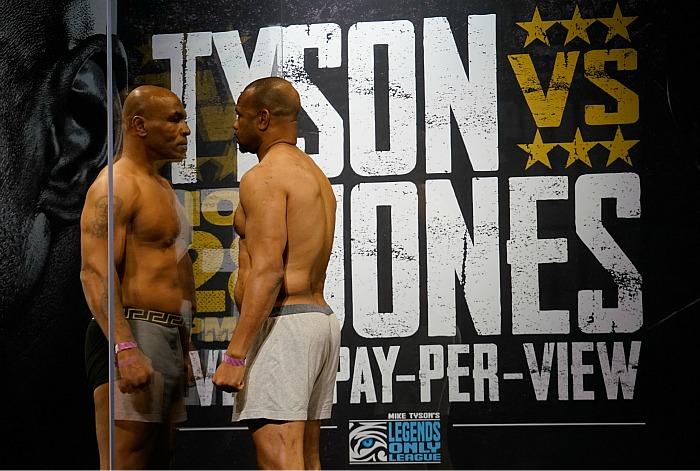 Выставочный бой Майка Тайсона и Роя Джонса завершился вничью