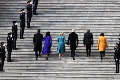 Байден прибыл в Капитолий на свою инаугурацию