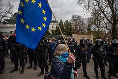 В Чехии у посольства России устроили акцию протеста