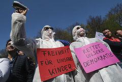 Полиция Берлина разогнала демонстрацию противников COVID-ограничений