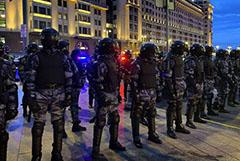 Полиция насчитала шесть тысяч человек на акции в поддержку Навального в Москве