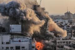 Израиль нанёс удары по объектам ХАМАС в ответ на ракетный обстрел